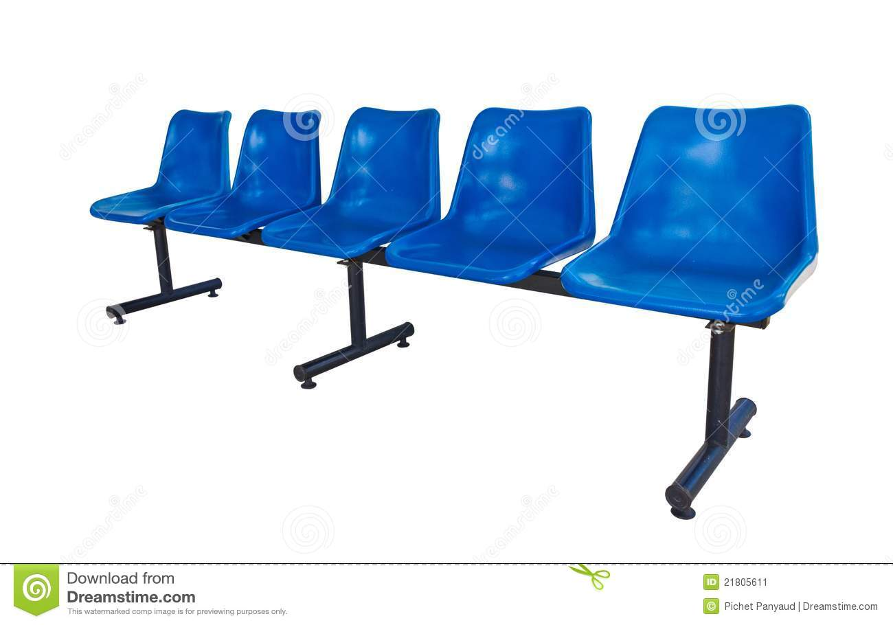 blue plastic chairs stock image image 21805611