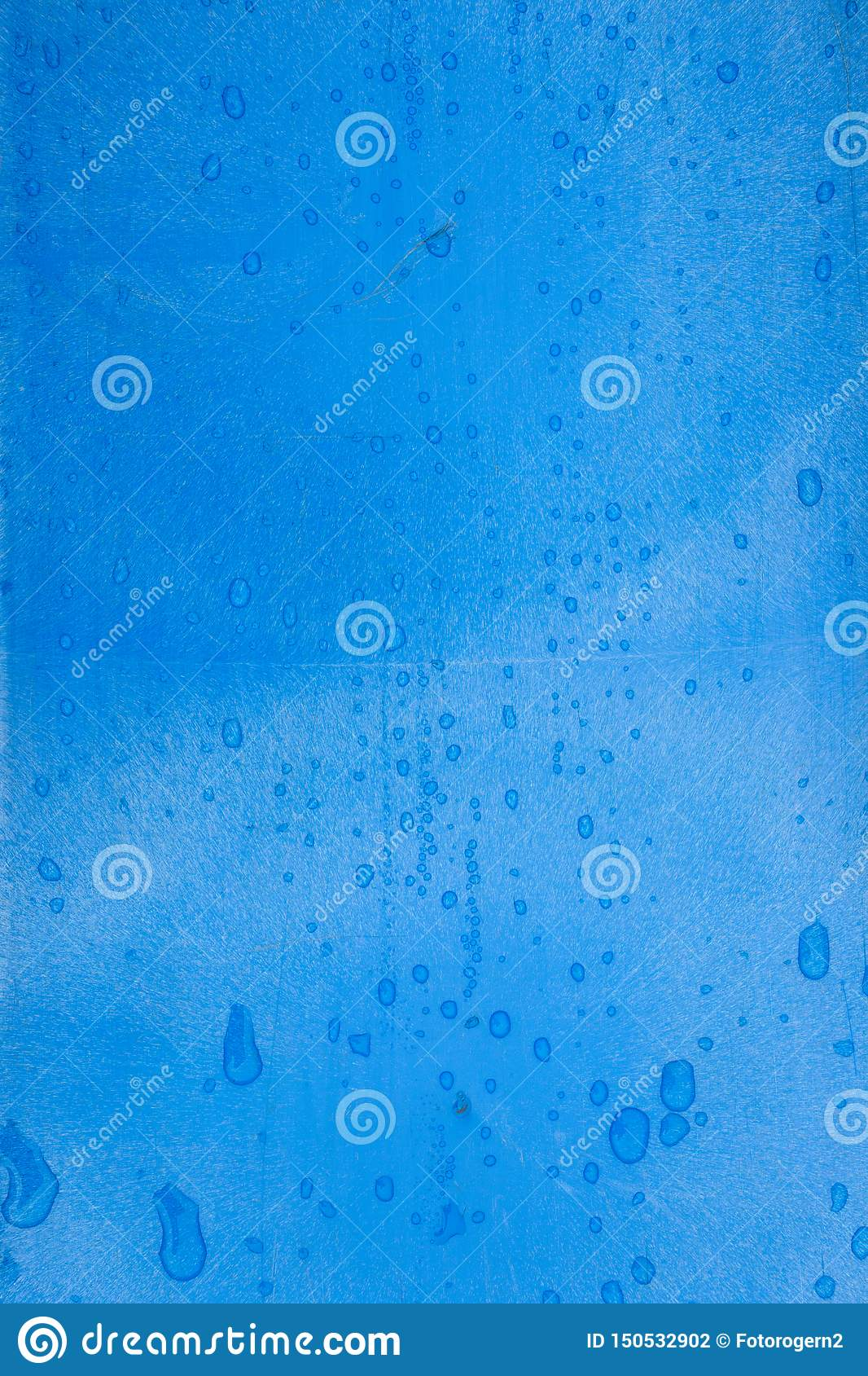 Blue plastic texture with raindrops