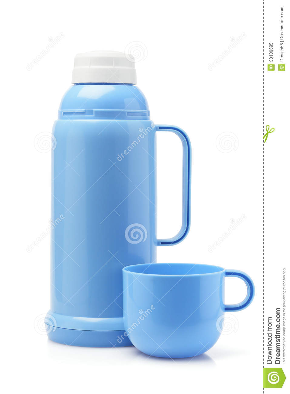 Plastic Thermos Flask Stock Image Image Of Plain
