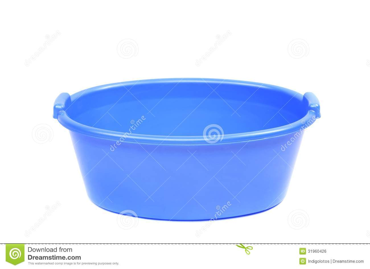 Blue Plastic Wash Bowl Royalty-Free Stock Image CartoonDealer.com ...