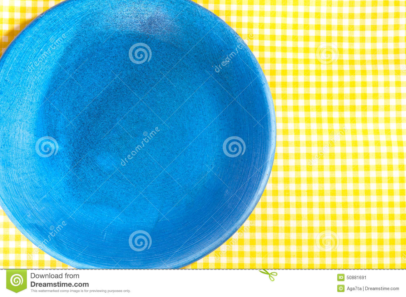 Blue Checkered Plate Tablecloth Yellow ...