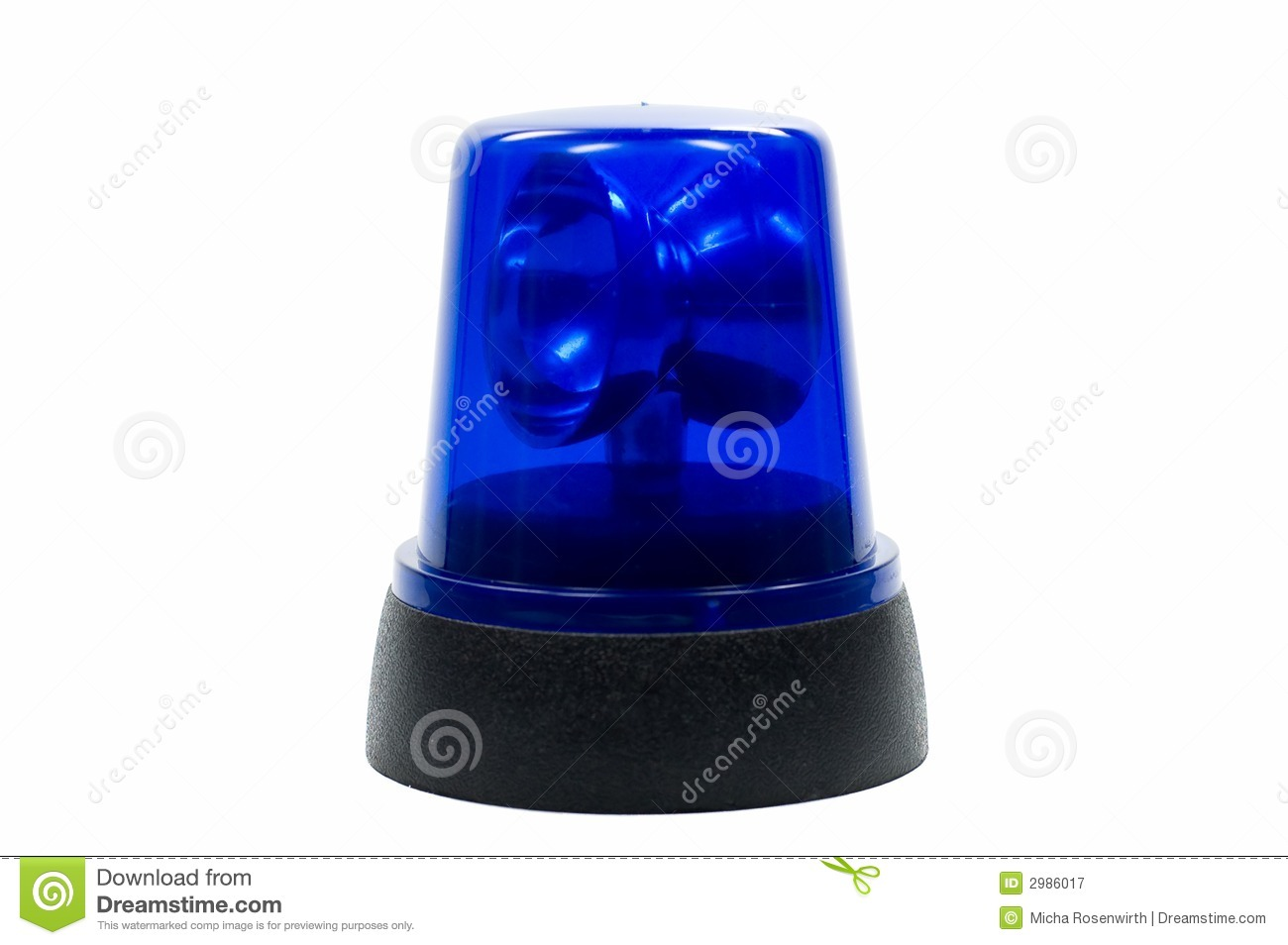 Blue Police Light Stock Image Image Of Alert White