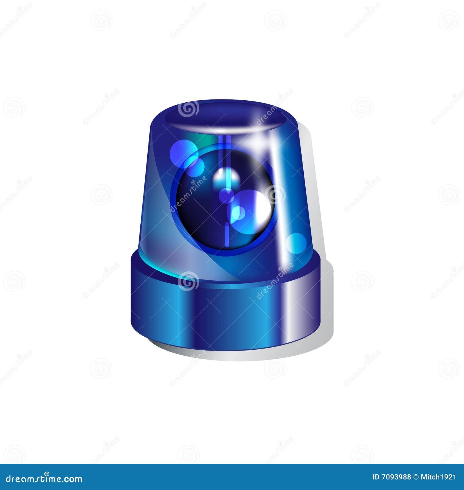 Blue Police Light Stock Illustration Illustration Of Over