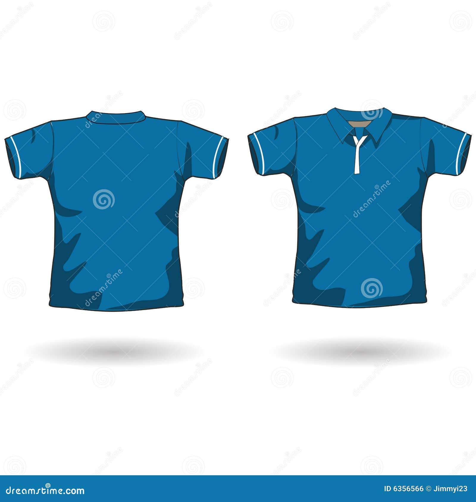 Blue Polo Shirt Template Stock Illustration Illustration Of