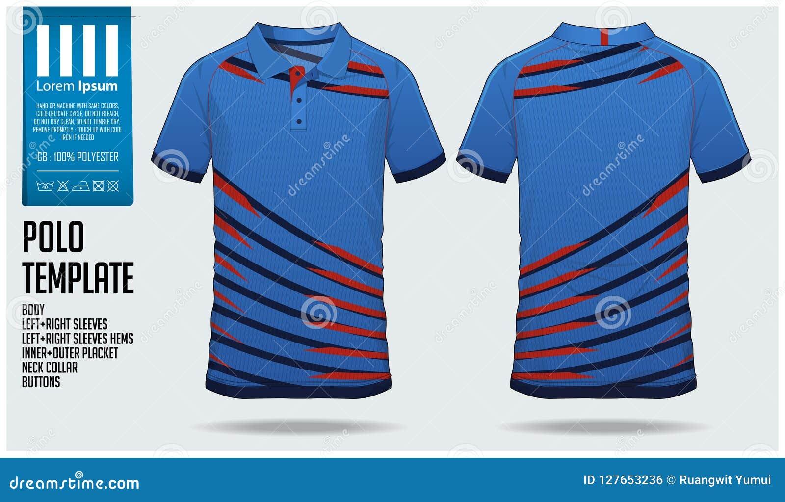 polo t shirt sport design template for soccer jersey football kit