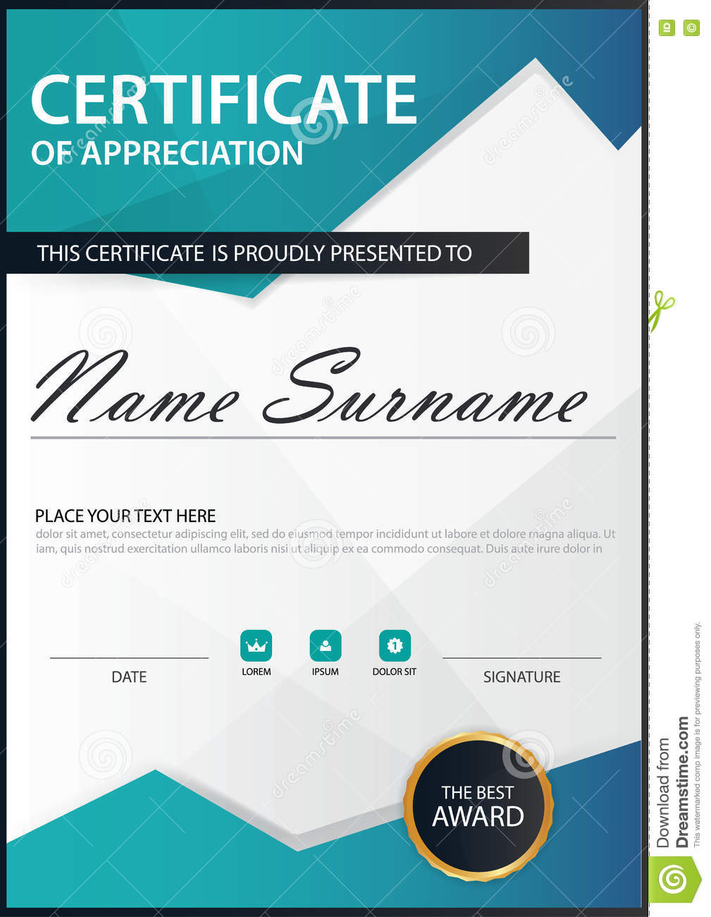 Blue polygon elegance vertical certificate with vector royalty free vector download blue polygon elegance vertical certificate xflitez Images