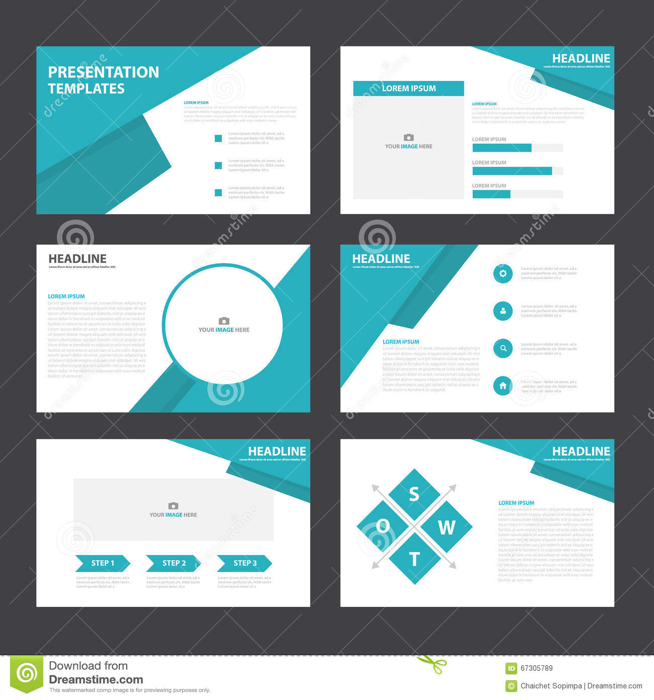 Infographic template for pages
