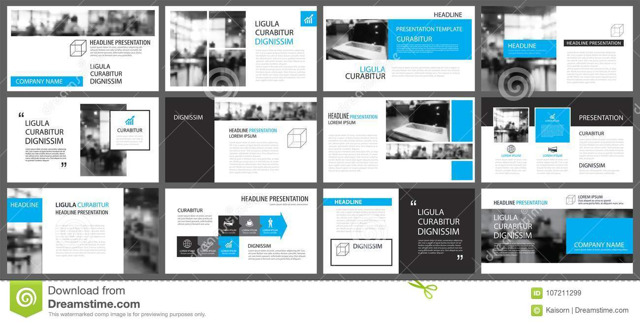 Blue Presentation Templates And Infographics Elements Background ...