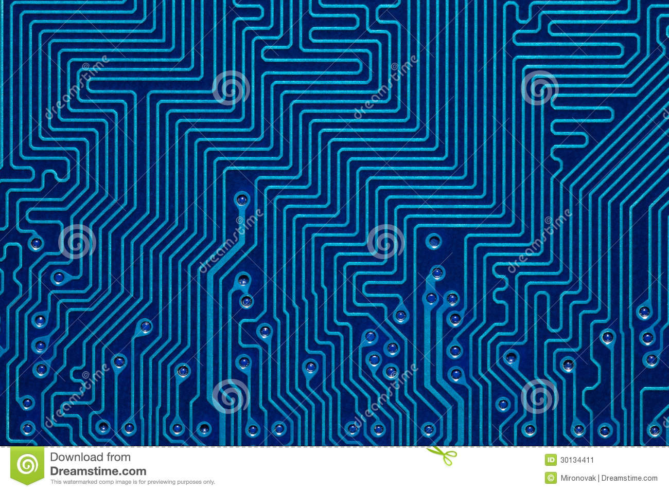 Printed Circuit Board Red Stock Image Auto Electrical Wiring Diagram Photo 5153818 Shutterstock Blue