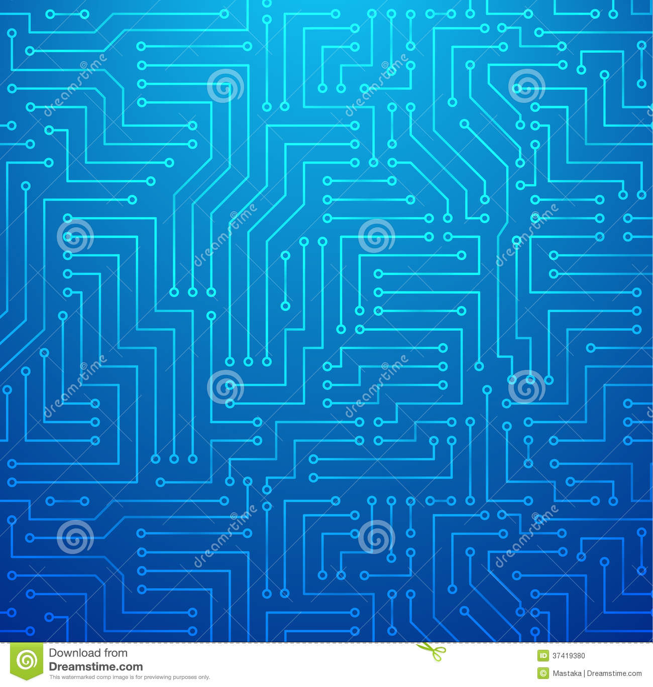 Blue Printed Circuit Board Stock Vector Illustration Of Background Detail A Royalty Free Image Photo