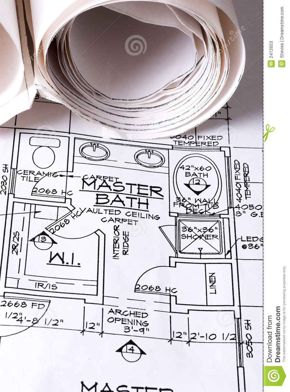 Blue Prints Of New Home Stock Photos Image 2412653