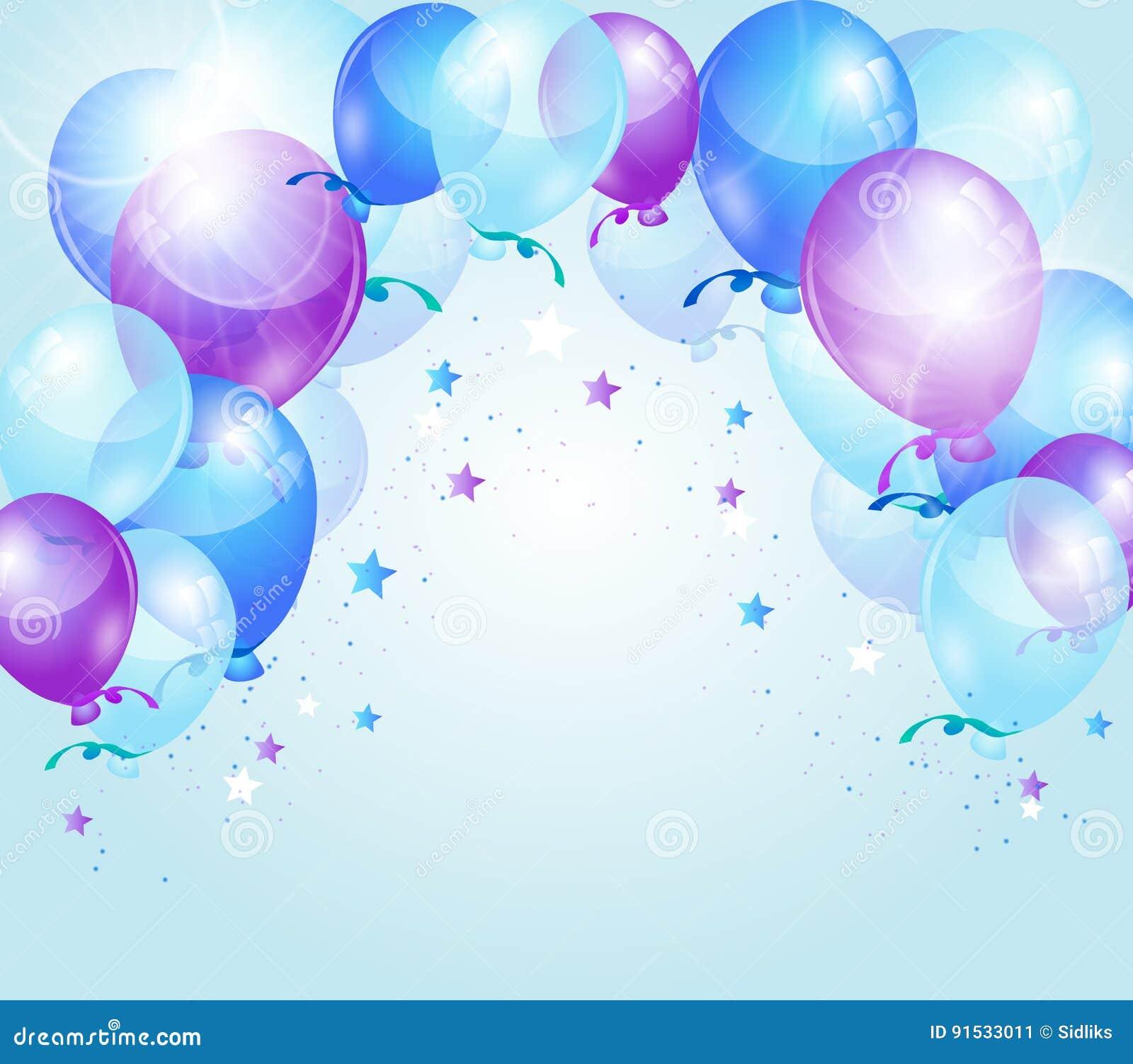 blue purple birthday background stock illustration image