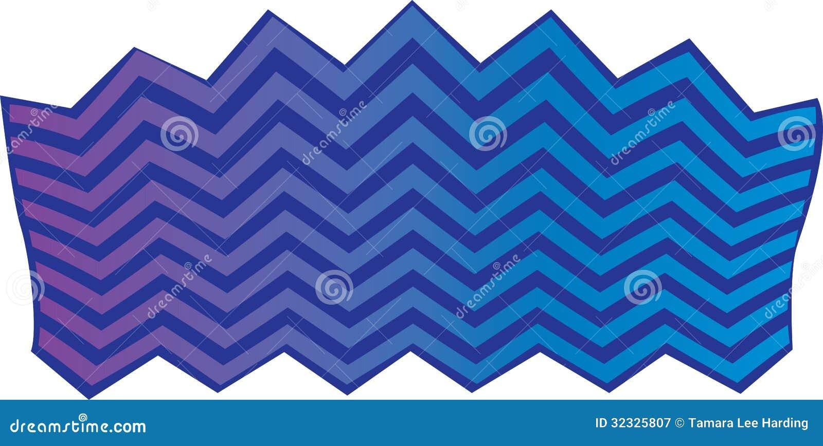 Purple Chevron Background Blue and purple chevron