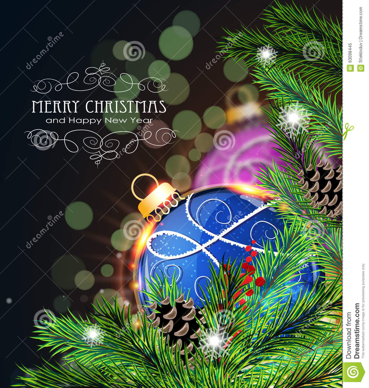 Blue and purple christmas decorations - Background Blue Christmas Holiday Pine Winter Decor Decoration