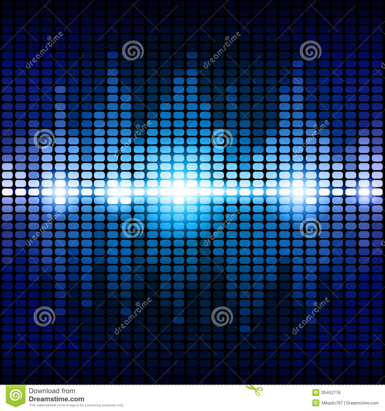 Blue And Purple Digital Equalizer Background Royalty Free ...