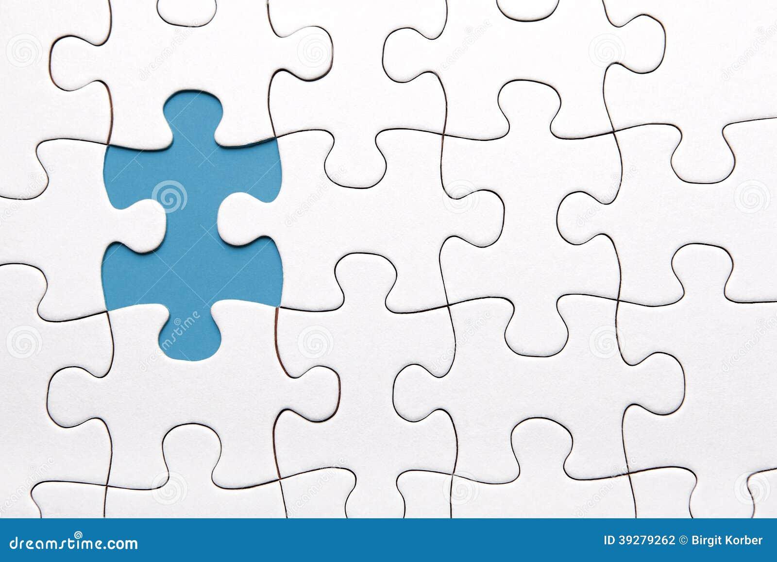 Blue Puzzle Piece Missing Stock Photo - Image: 39279262