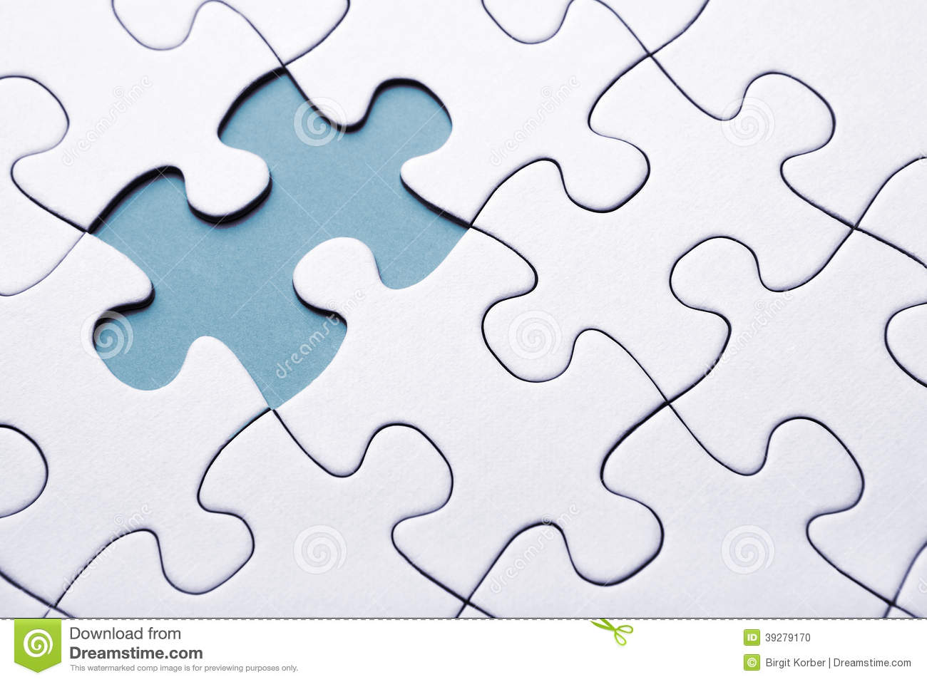 Blue puzzle piece missing