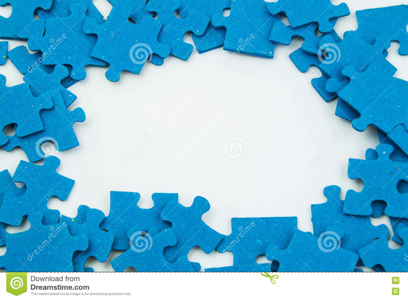 Blue puzzle pieces stock photo. Image of blue, join, background ...