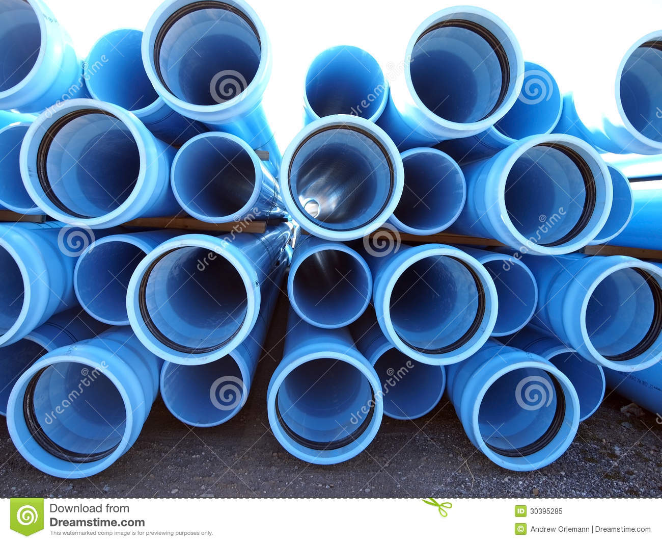 Blue plastic water pipe acpfoto for Plastic water pipe