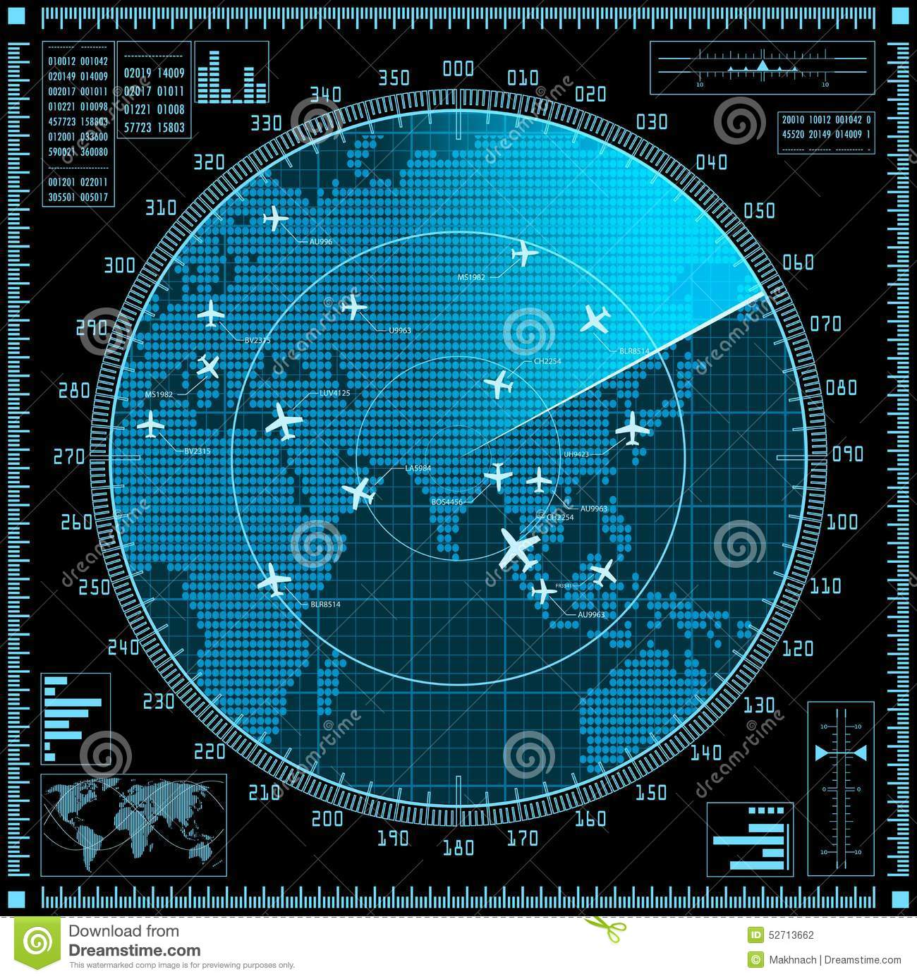 radar mapa Blue Radar Screen With Planes And World Map Stock Vector  radar mapa