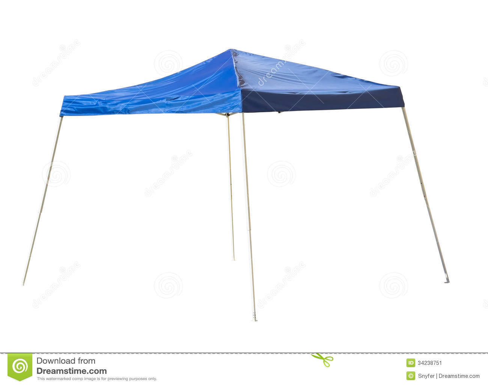 Blue rain tent.  sc 1 st  Dreamstime.com & Blue rain tent. stock image. Image of isolated shadow - 34238751