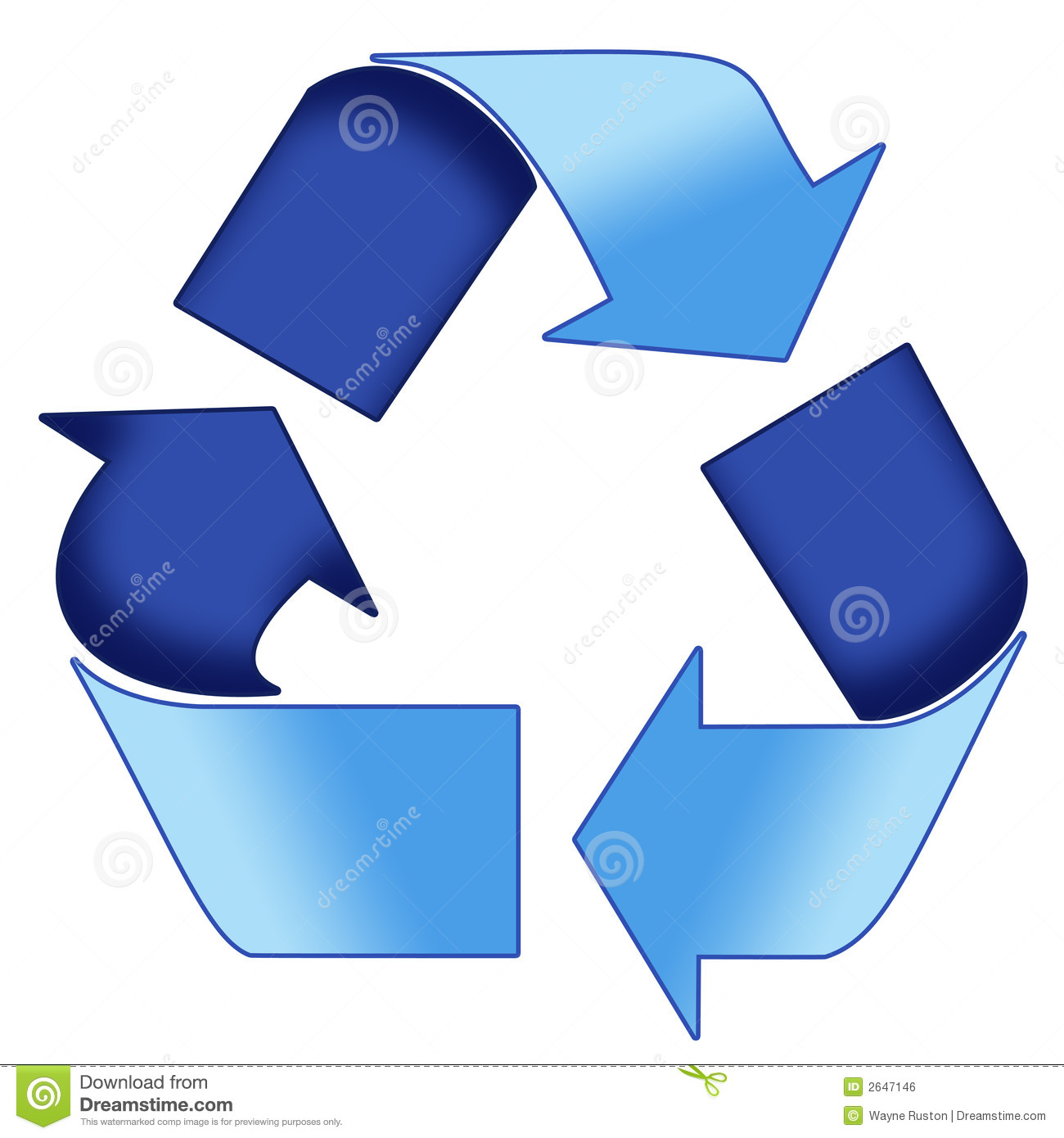 Blue Recycle Symbol Royalty Free Stock Image - Image: 2647146