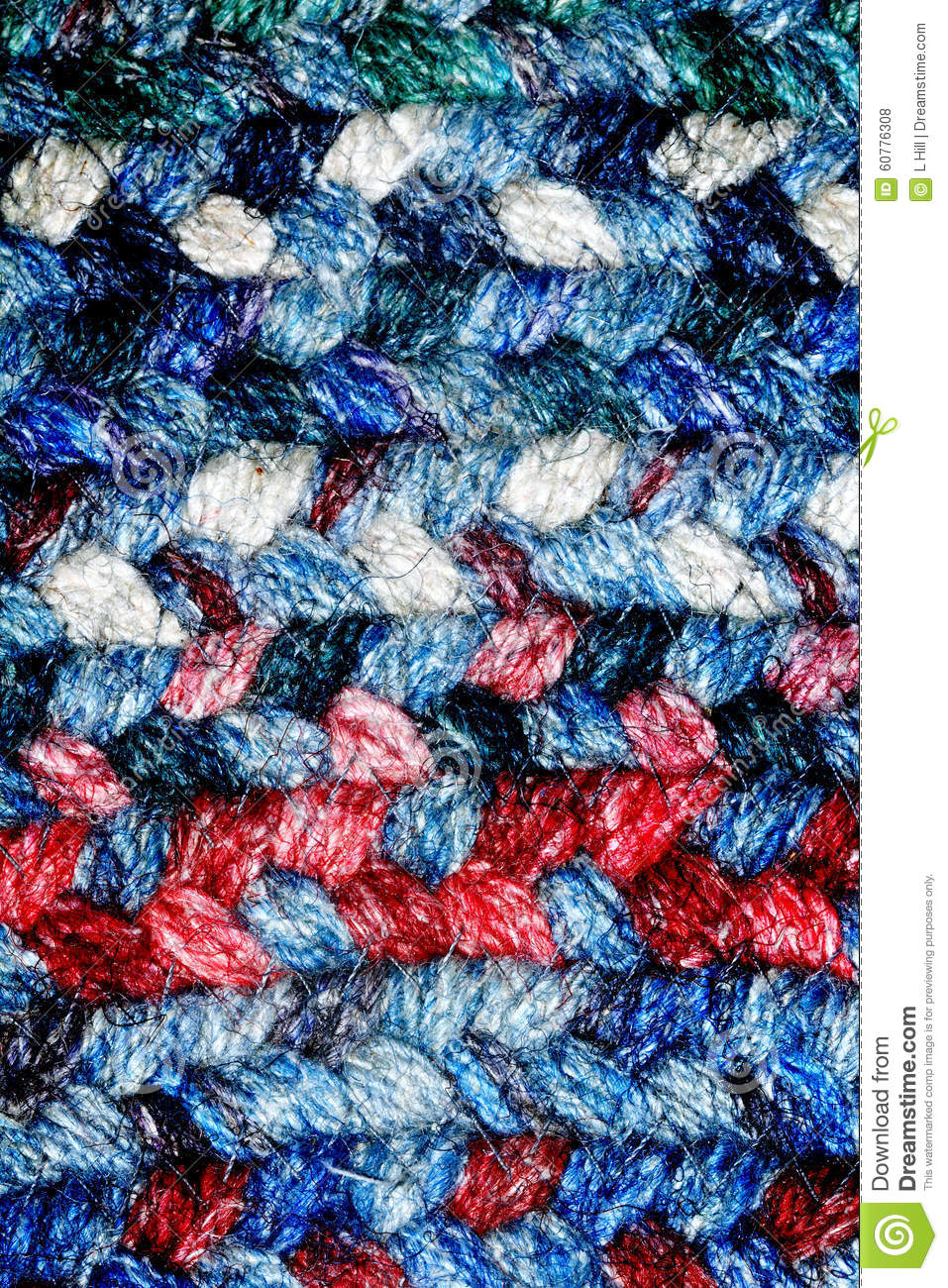 red white and blue braided rug stock photo image 60776308. Black Bedroom Furniture Sets. Home Design Ideas
