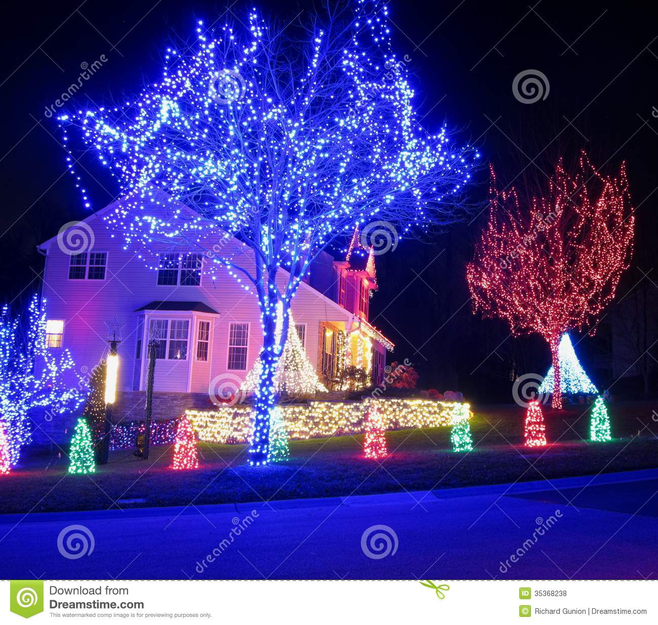 Blue And Red Christmas Stock Photo Image Of Seasonal