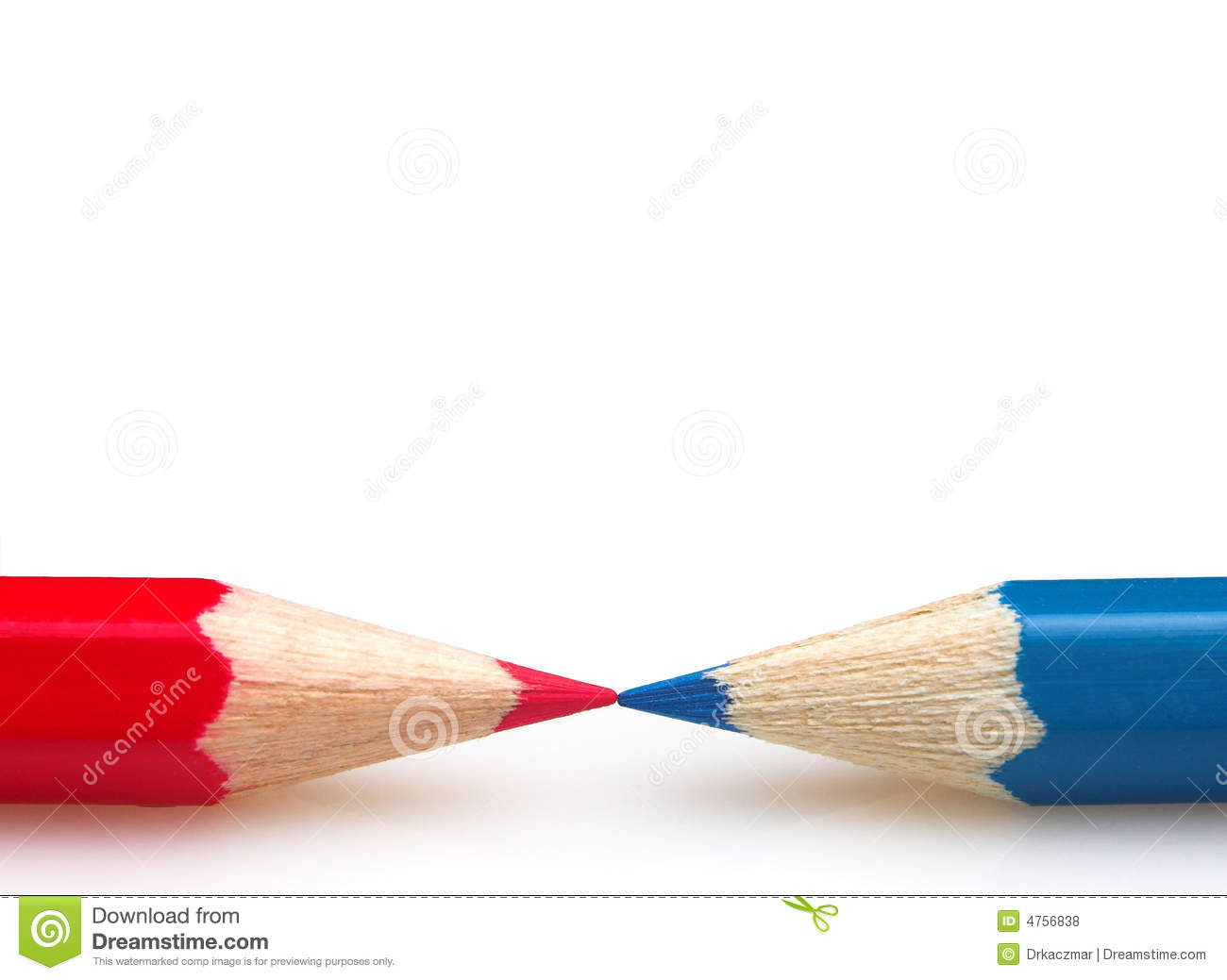 Blue And Red Crayons R...