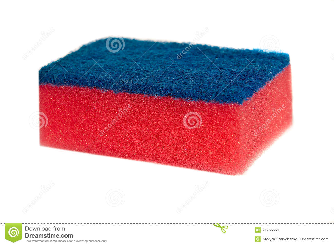 Blue and red sponge for washing dishes isolated stock image image of porous hygiene 21756563 - Lavish white and grey kitchen for hygienic and bright view ...