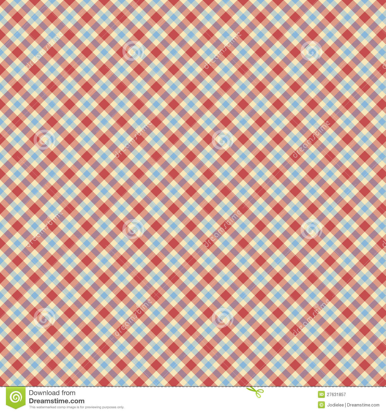 Blue and red tartan check repeat wallpaper pattern stock for Red check wallpaper