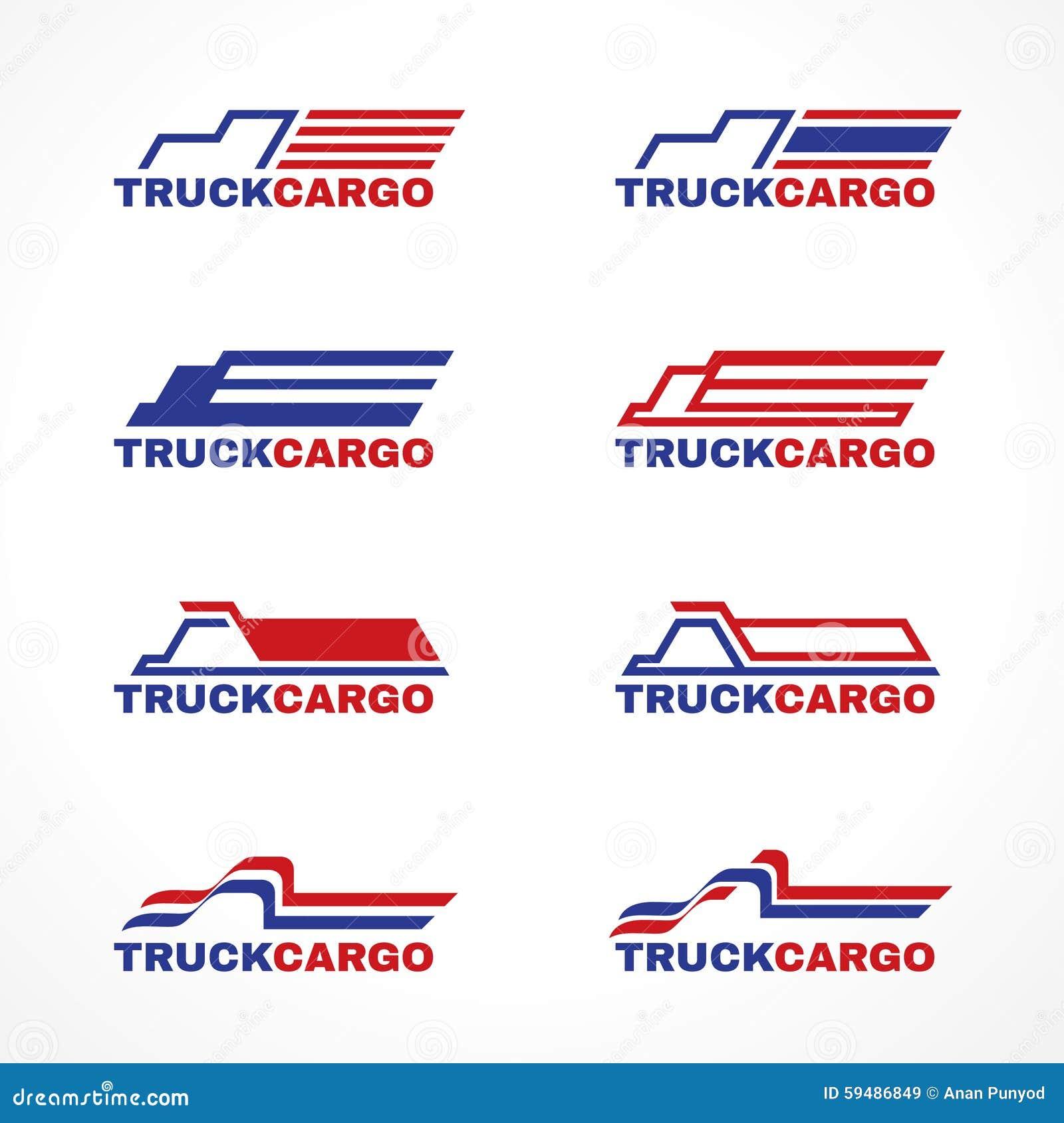 Blue Red Truck Cargo Logo Vector Design Stock Vector ...