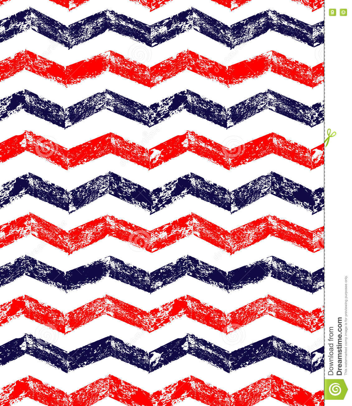 Red White Blue Chevron