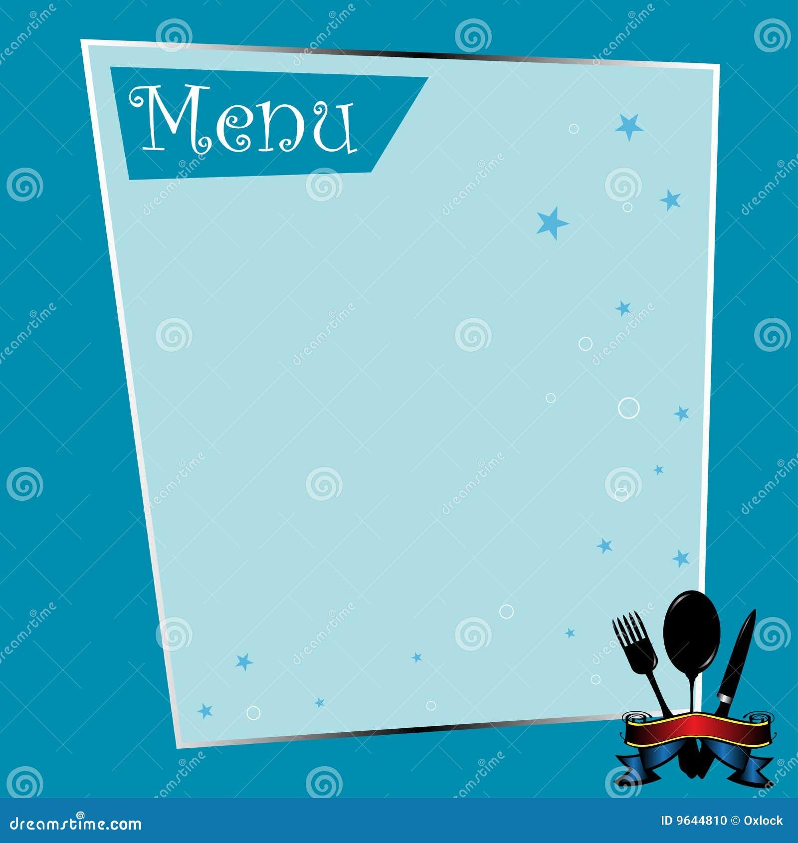 restaurant menu template word