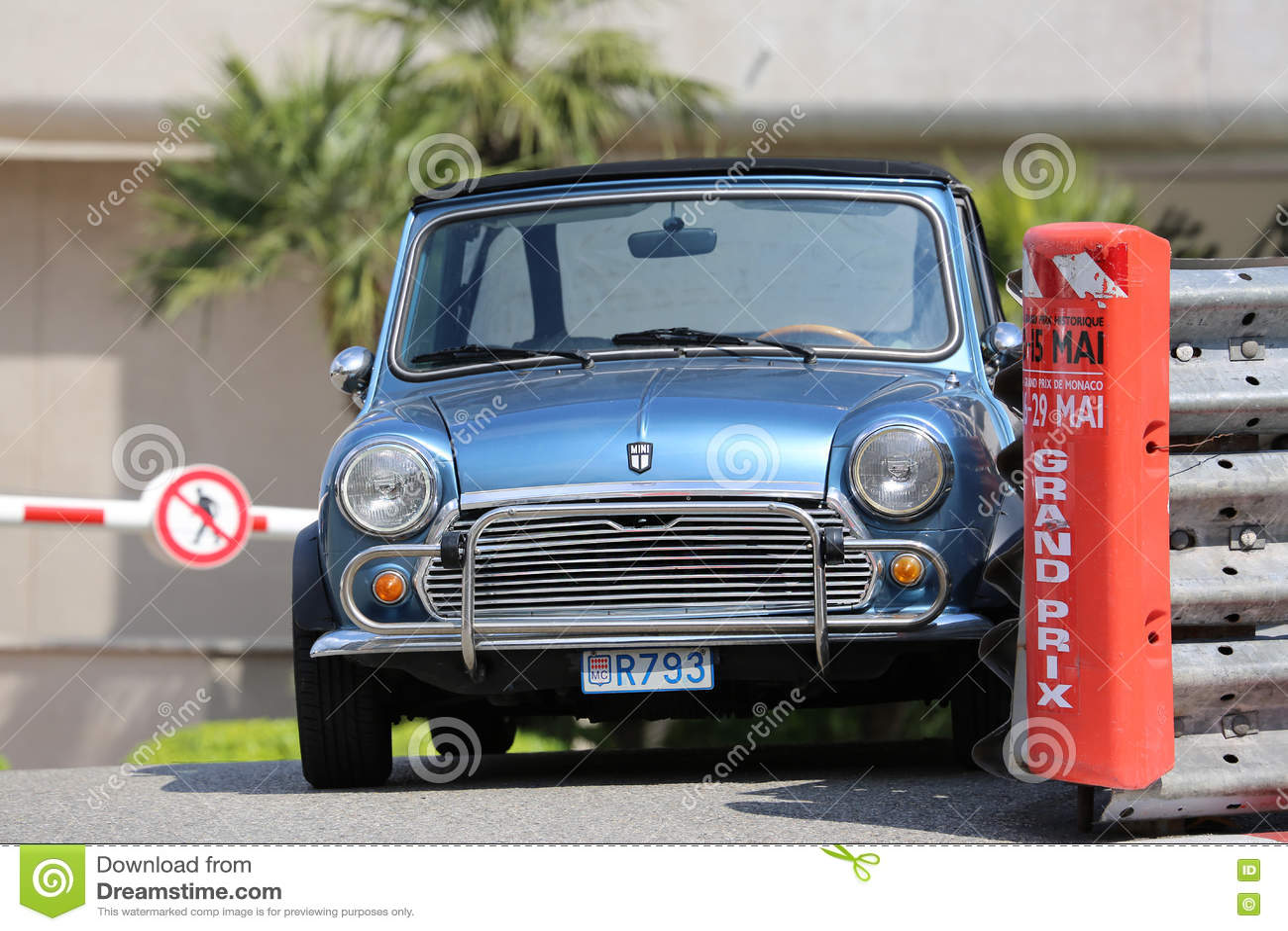 Blue Retro Car Austin Mini Cooper Editorial Photo Image Of Grand