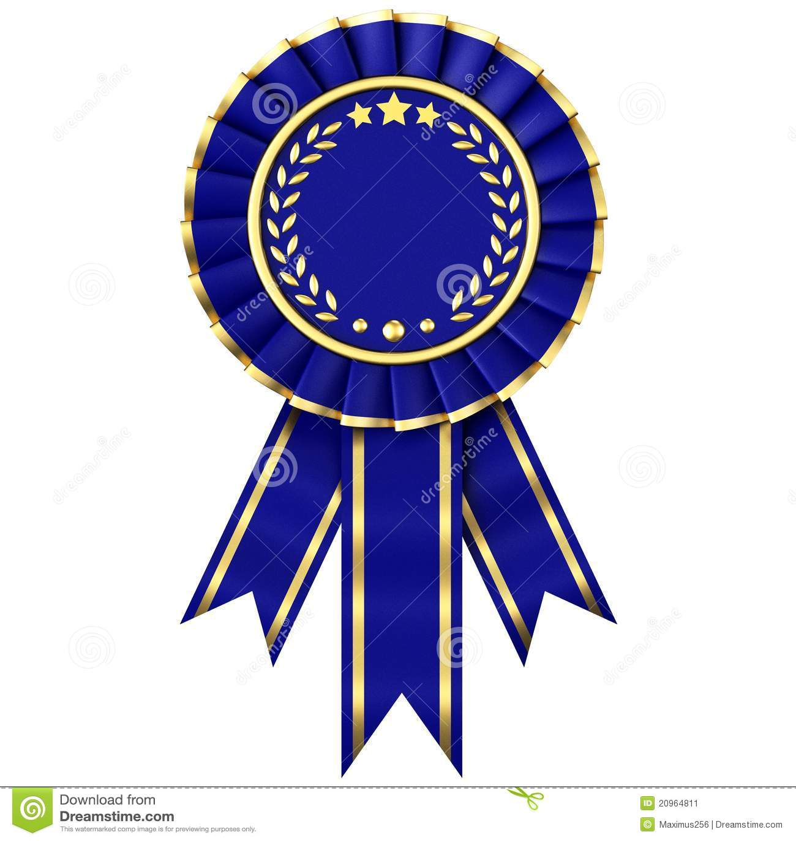 1st prize ribbon template - blue ribbon award stock illustration illustration of