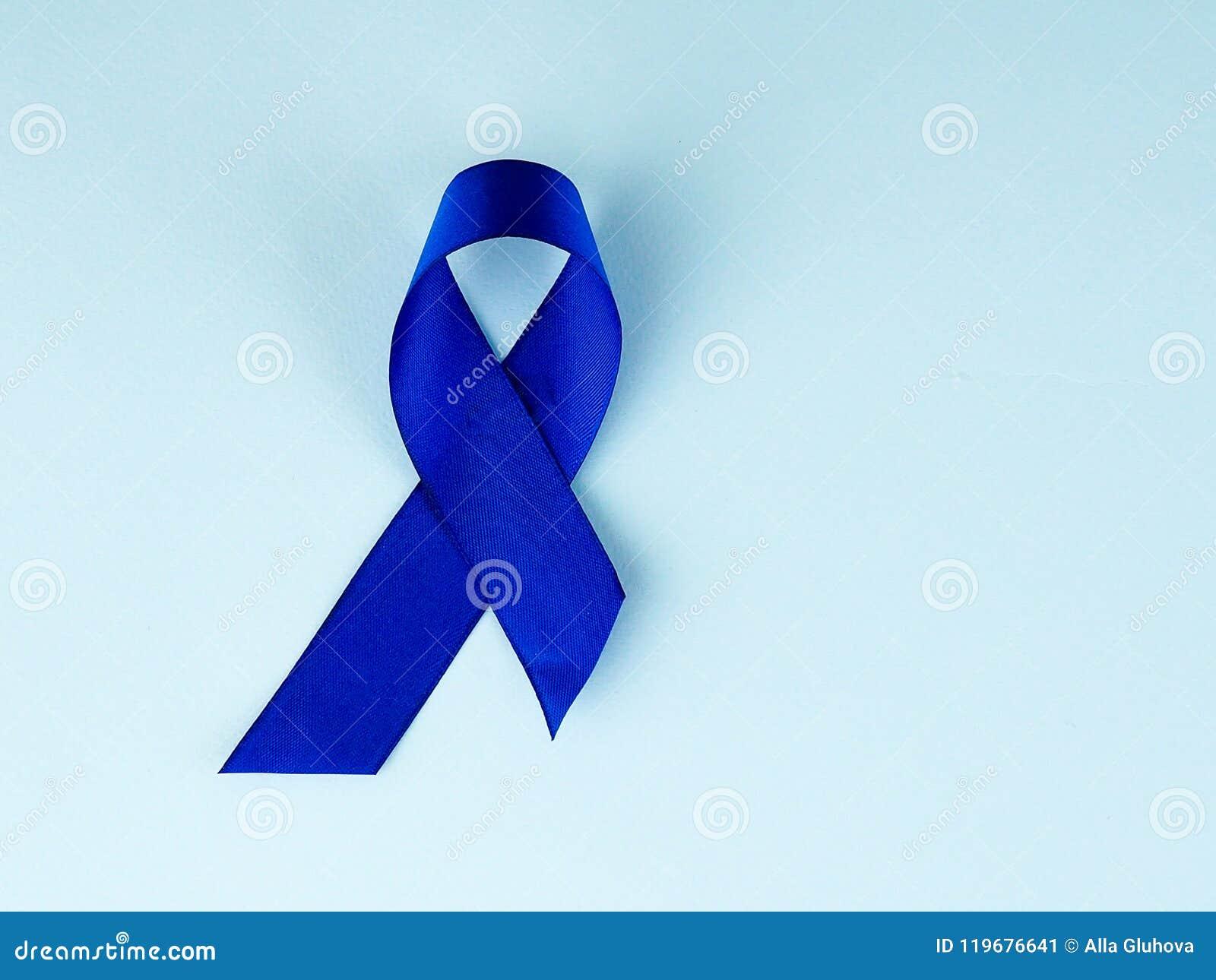 Blue Ribbon Awarenesslon Cancer Colorectal Cancer Child Abuse