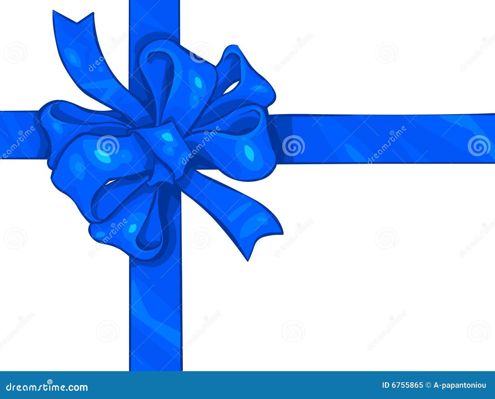 Blue Ribbon Bow Royalty Free Stock Photo - Image: 6755865