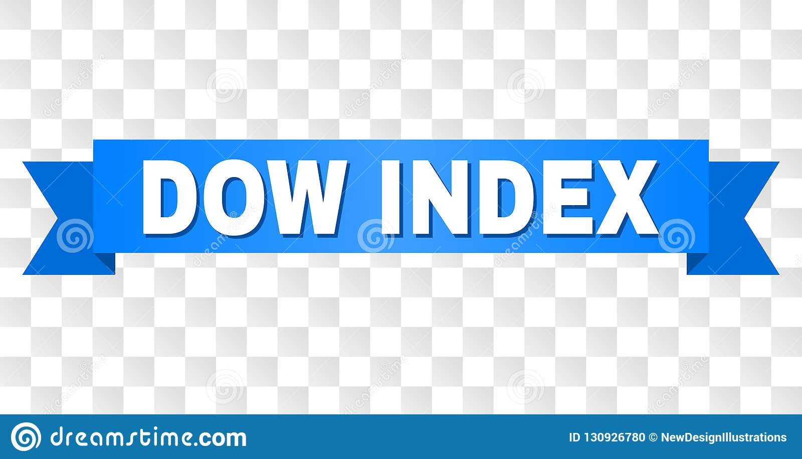 Blue Ribbon con título del ÍNDICE del DOW
