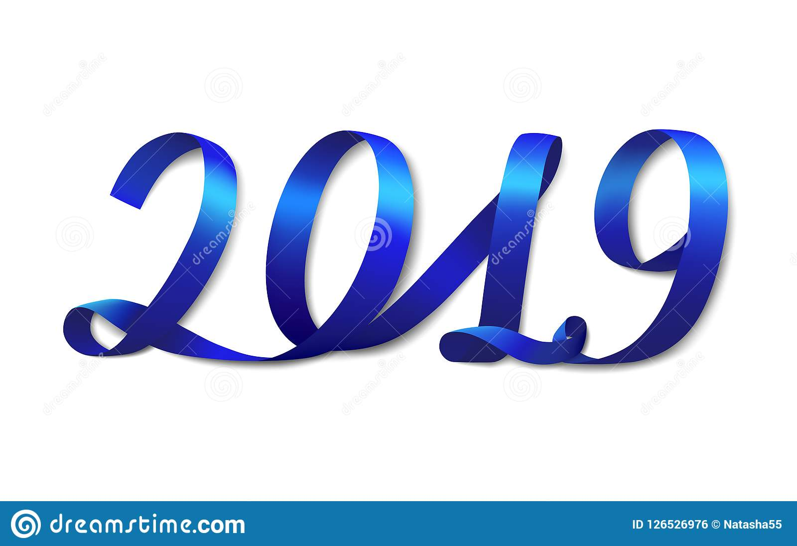 blue ribbon number 2019 new year