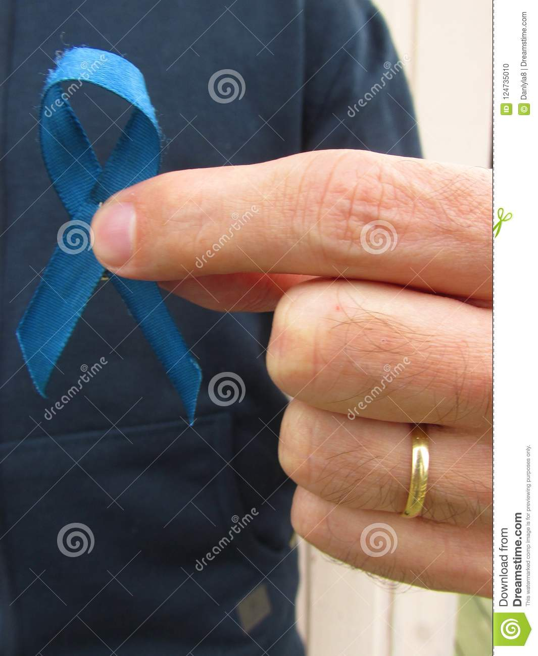 Blue ribbon for prostate cancer awareness campaign