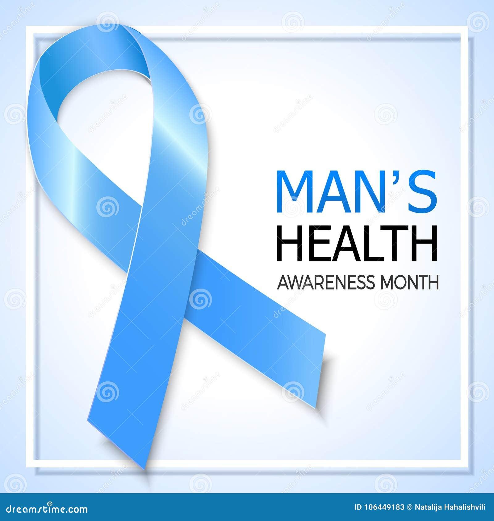5ef272967e6 Blue Ribbon Symbol For Prostate Cancer Awareness Month. Vector B ...