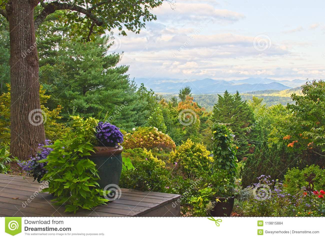 Blue Ridge Mountains Seen From North Carolina Back Yard