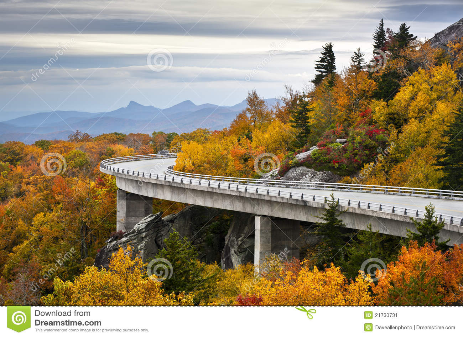 Blue Ridge Parkway Autumn Linn Cove Viaduct Fall