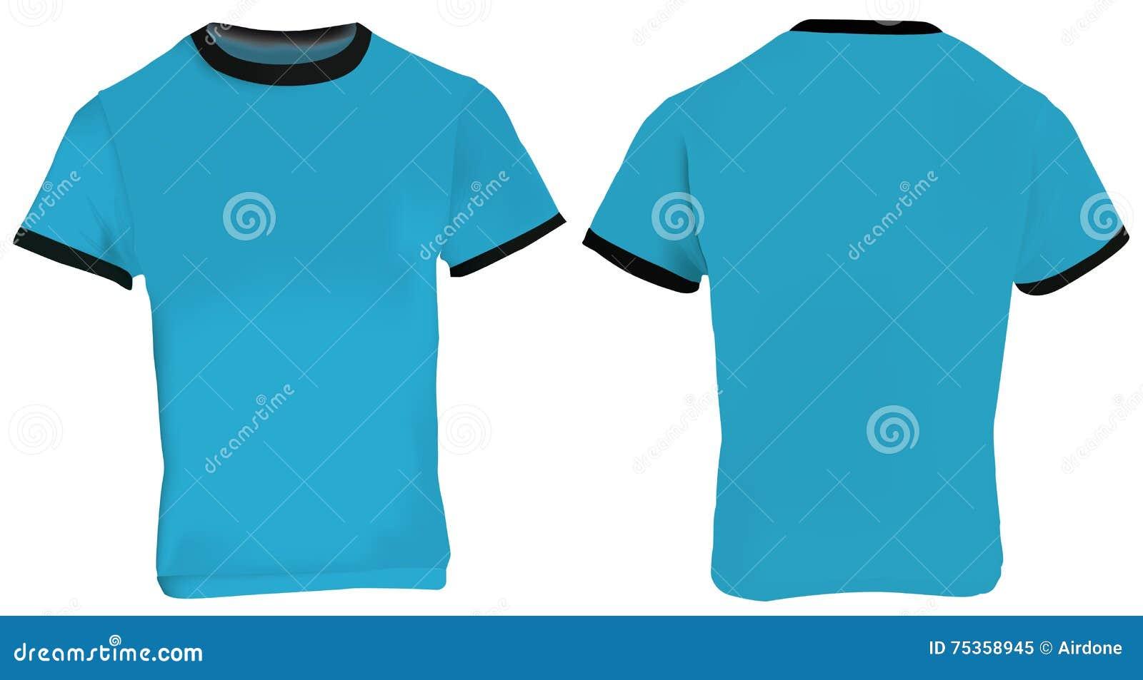 blue ringer t shirt stock vector image 75358945. Black Bedroom Furniture Sets. Home Design Ideas