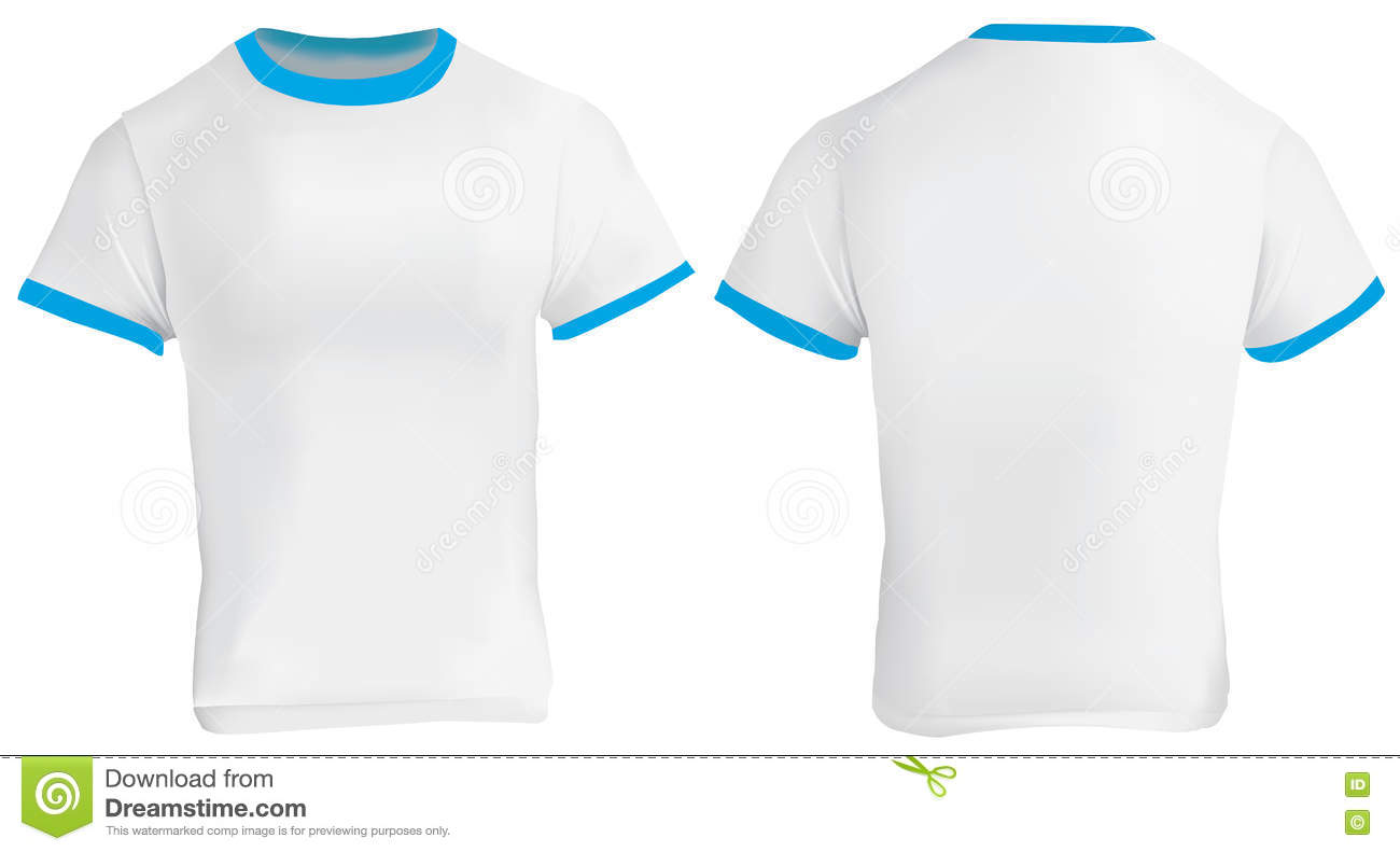 blue ringer tshirt stock vector image of clothes