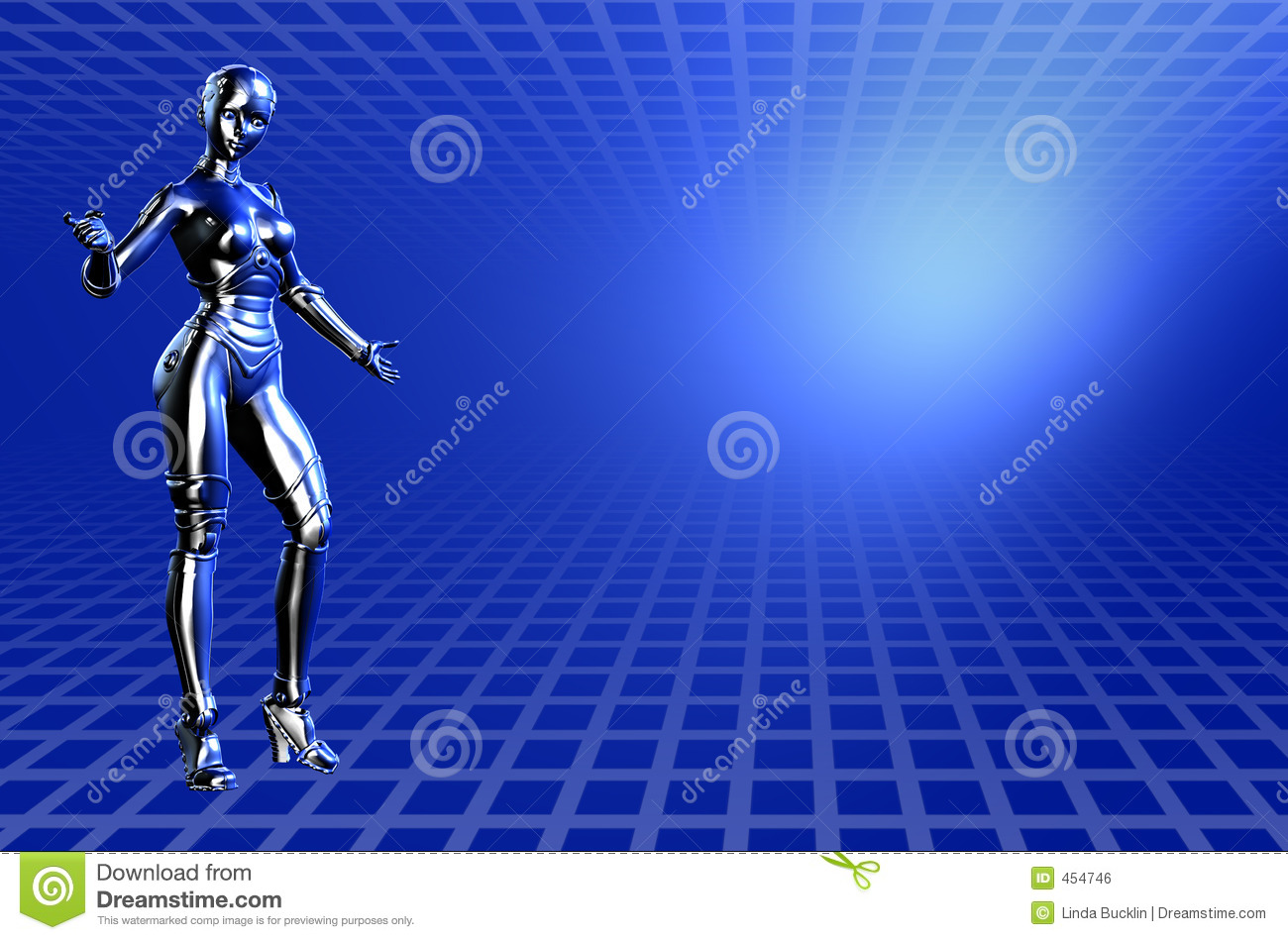 Blue Robot Technical Background - With Clipping Path Stock ...