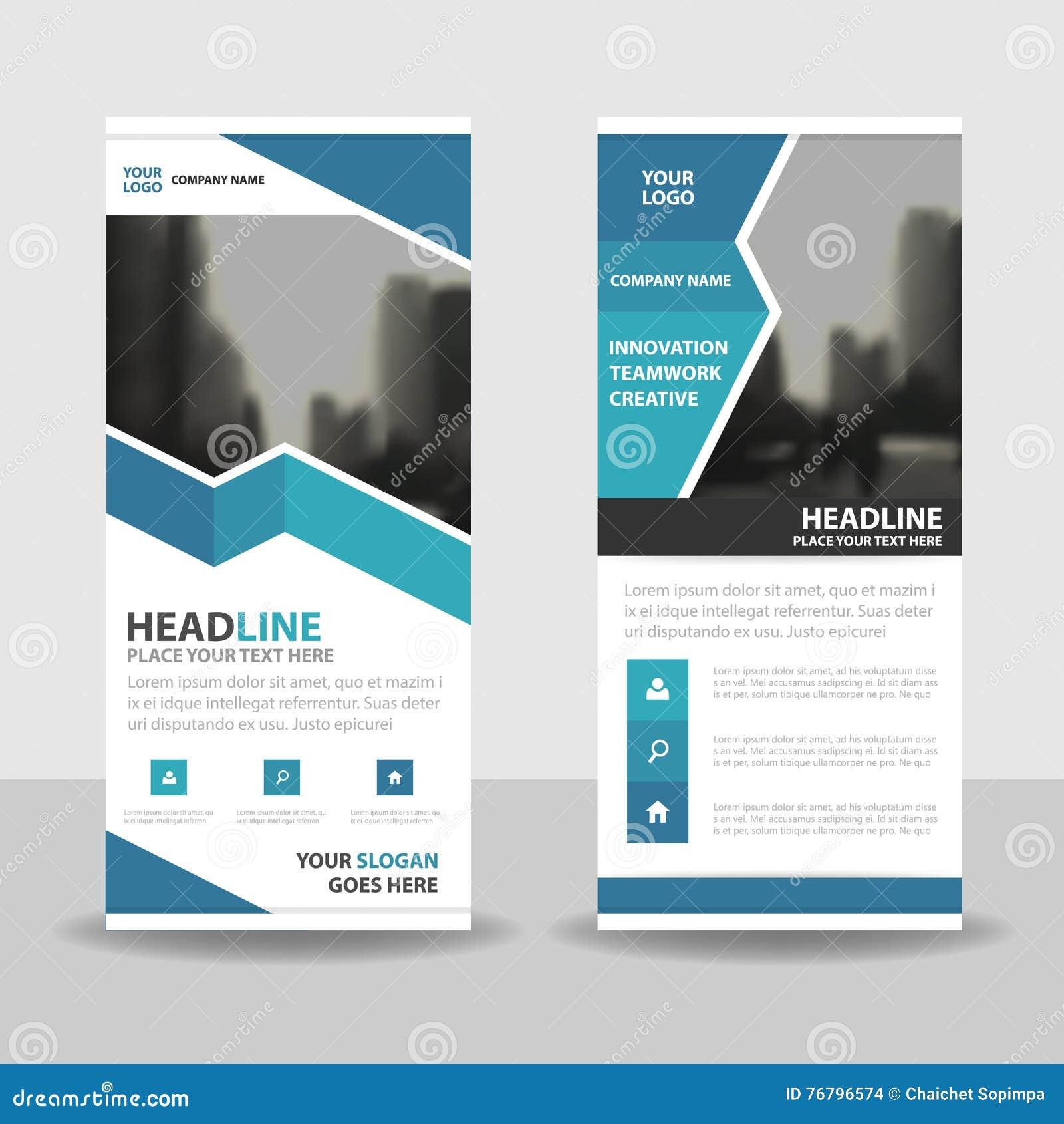 Blue Roll Up Business Brochure Flyer Banner Design Cover