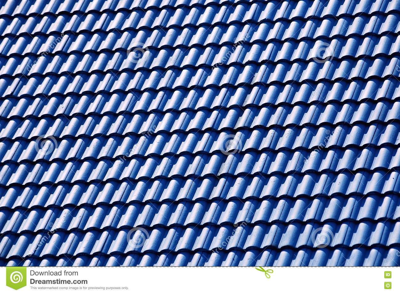 Blue Roof Tile Stock Photo Image Of Blue Tile