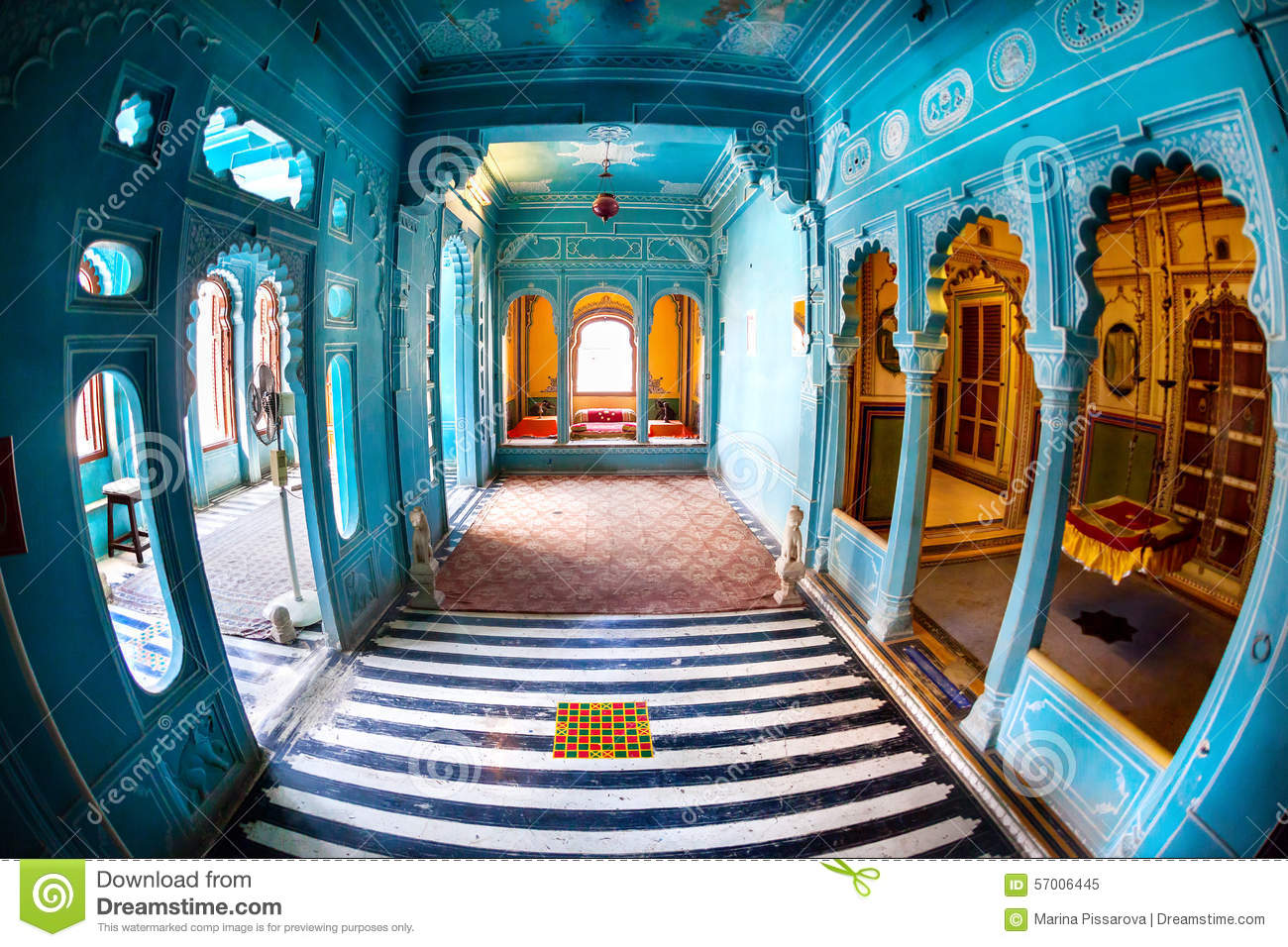 Blue Rooms In City Palace Stock Photo Image 57006445